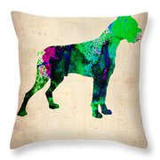 Boxer Poster Throw Pillow