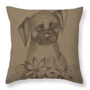 Boxer Pup 16-01 Throw Pillow