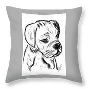 Boxer Pup Throw Pillow