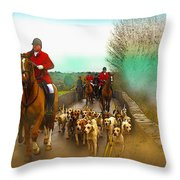 Boxing Day Hunt Throw Pillow