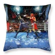 Boxing Night Throw Pillow