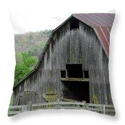 Boxley Valley Barn Throw Pillow