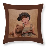 Boy And Bear  Throw Pillow