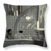 Boy And The Bubble Throw Pillow