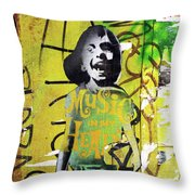 Boy In Yellow Throw Pillow
