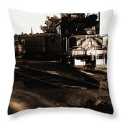 Boy On The Tracks Throw Pillow