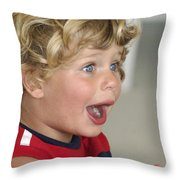 Boy Surprise Throw Pillow