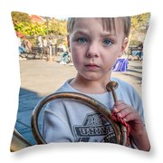 Boy With A Horn _ Nola Throw Pillow