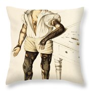 Boy With Ichthyosis, Skin Disease Throw Pillow
