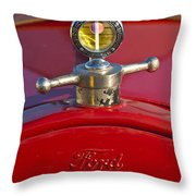 Boyce Motometer Hood Ornament Throw Pillow