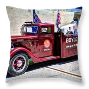 Boyle Racing Headquarters  Throw Pillow