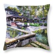 Boynton House Oil Painting Throw Pillow