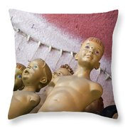 Boys Club Throw Pillow