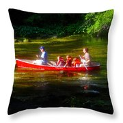 Boy's Day Out Throw Pillow