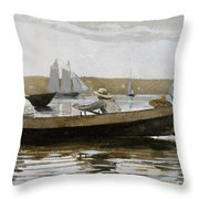 Boys In A Dory, By Winslow Homer, Throw Pillow