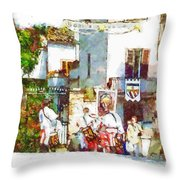 Boys In Medieval Dress Throw Pillow