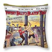 Boys Magazine, 1906 Throw Pillow