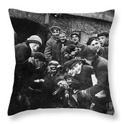 Boys Shooting Craps, C1910 Throw Pillow