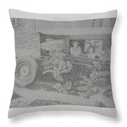 Happy's 2002 Boys With Dove In Model A Throw Pillow