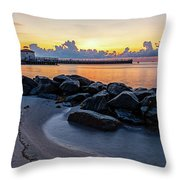 Boyton Beach Inlet Throw Pillow