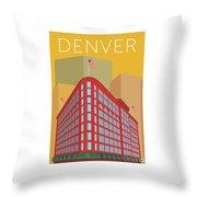 Denver Brown Palace/gold Throw Pillow