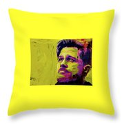 Brad Pitt Fury Throw Pillow