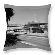 Bradford Beach House B-w Throw Pillow
