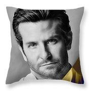 Bradley Cooper Collection Throw Pillow
