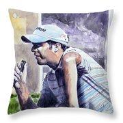 Bradley Dredge Throw Pillow