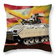 Bradley M2 Fighting Vehicle Throw Pillow