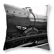 Bradley Manor In Black And White Throw Pillow