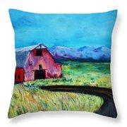 Bradley's Barn Throw Pillow