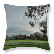 Bradman Oval Bowral Throw Pillow