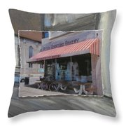 Brady Street - Peter Scortino Bakery Layered Throw Pillow