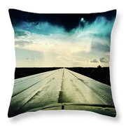 Braeking Through The Storm Waskatena Throw Pillow