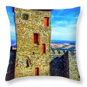 Braganca Castle Tower Throw Pillow