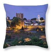 Braganca Dusk Panorama Throw Pillow