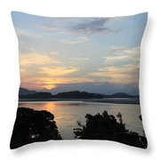Brahmaputra Sunset Throw Pillow