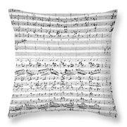 Brahms Manuscript Throw Pillow