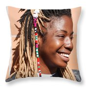 Braided Lady Throw Pillow