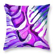 Brain Coral Abstract 4 In Purple Throw Pillow