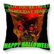 Brain Desert Halloween Card Throw Pillow