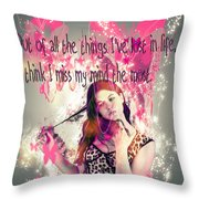 Brainless Teen Bimbo Throw Pillow