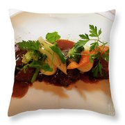 Braised Beef With Vegetables Throw Pillow