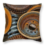 Brake Drums - Disc Brakes - Shock Assembly Throw Pillow