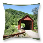 Braley Covered Bridge Throw Pillow