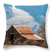Bramble Bound Barn Throw Pillow