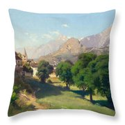 Bramois. Wallis. 1861 Throw Pillow