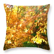 Branch Of Autumn Leaves Throw Pillow