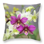 Branch Of Pink Throw Pillow